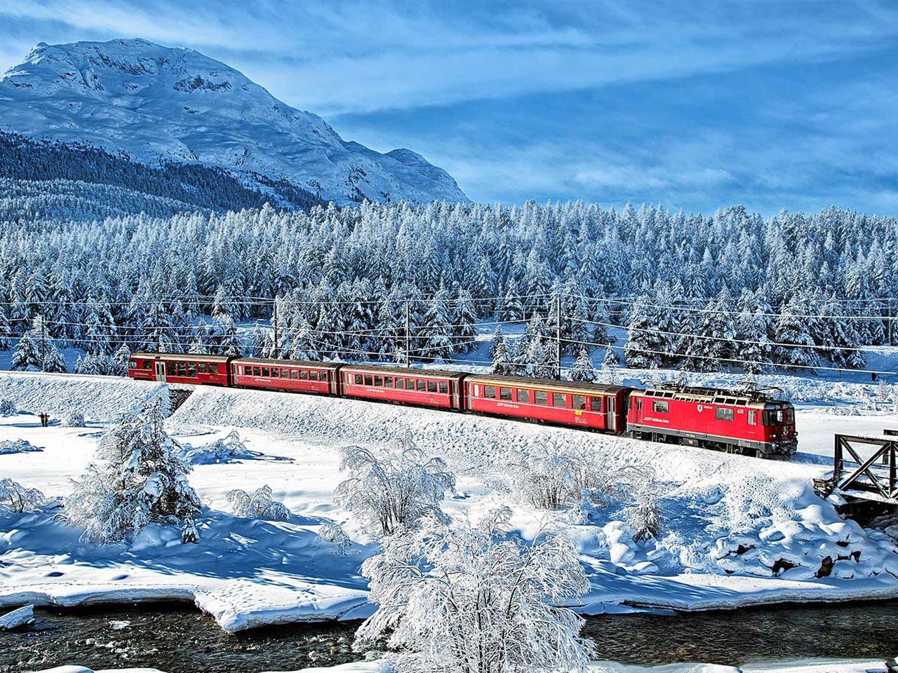 Zwitserland, Brig, , Kerstreizen, Oud, en, Nieuwreizen